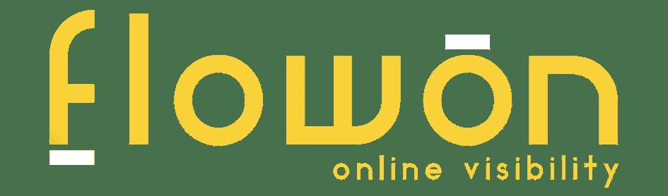 Logo Flowon geel met wit